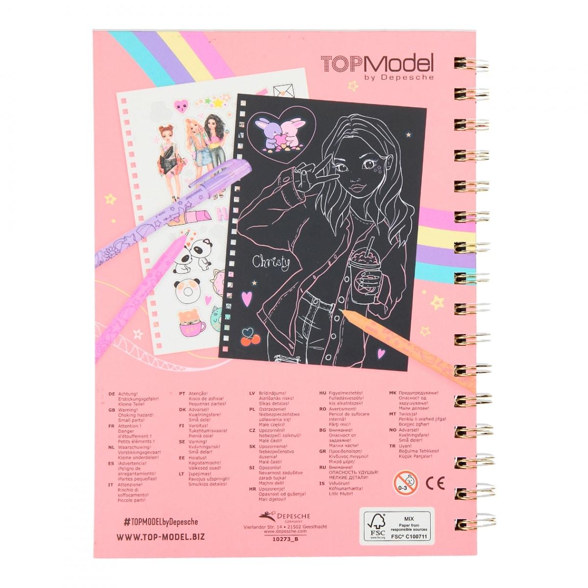 TOPModel Doodle Book neón con set de bolígrafos neón